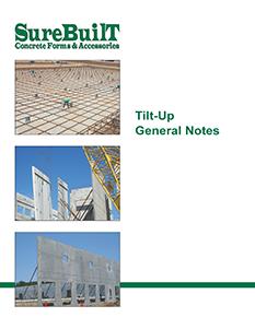 Tilt Up Concrete General Notes