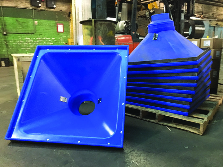 SureBuilt Heavy Duty Concrete Hoppers on a pallet
