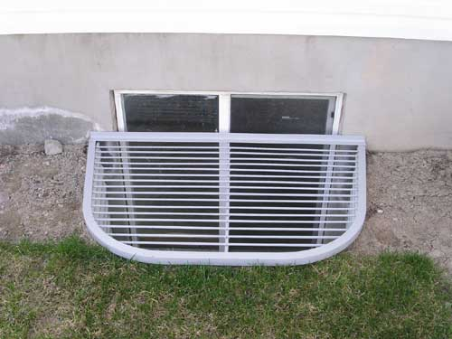 Egress Window Well Cover - Grate with Rebar