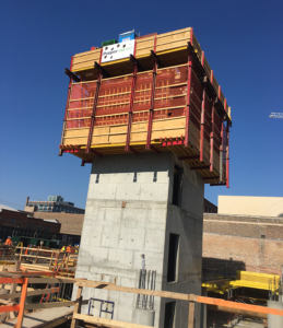 SureCore Self-Riser Concrete Formwork System for high rise construction