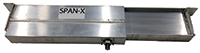 The SPAN-X Beam consists of an aluminum box shape with a telescoping I-beam that provides a wide range of adjustment