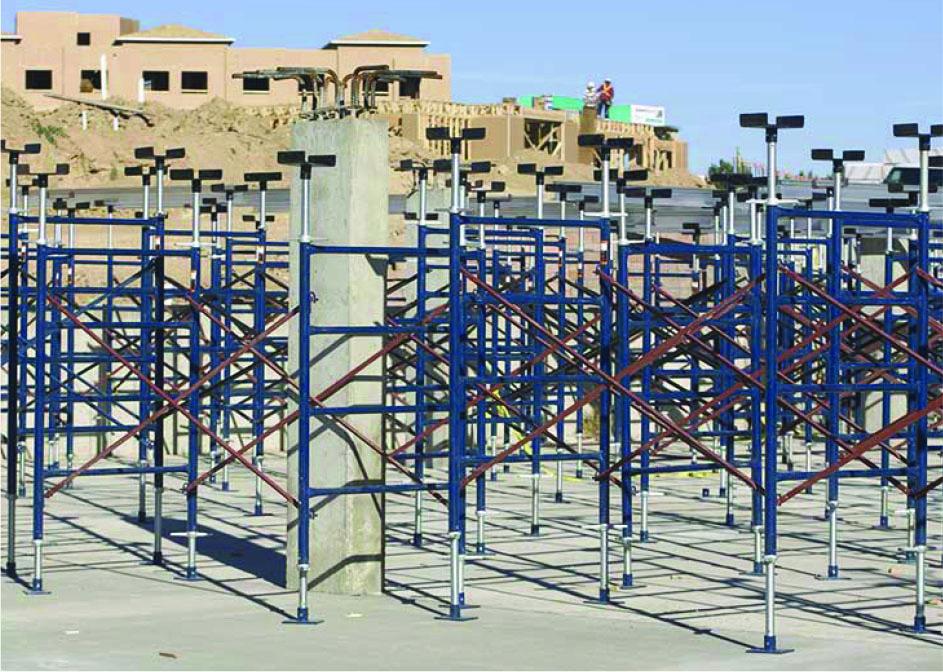 10K Shoring Jobsite Photo - Concrete Deck Support