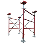 This shoring and deck support system is designed for an optimum strength-to-weight ratio, with a tested rating of 10K leg