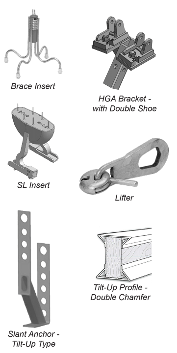 SureBuilt Tilt-Up Concrete Panel Accessories