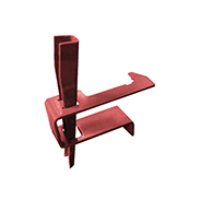 SureBuilt One Piece Waler Clamp used in any siderail hole with no form ties
