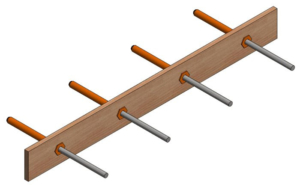 Positioning dowels with leave-in-place expansion board, like cedar or polypropylene, is easy with this Dowel Sleeve.